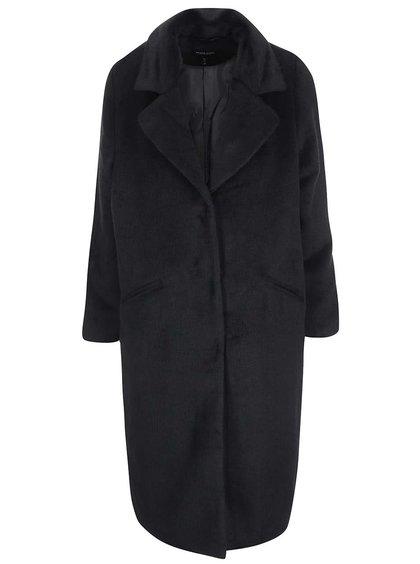 Čierny dámsky dlhý kabát Brave Soul Trixie