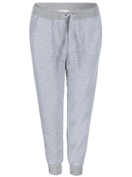 Pantaloni de trening pentru femei, cu textură matlasată, de la Brave Soul - gri