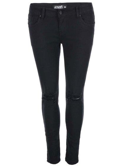 Černé džíny s prošoupanými koleny Haily´s Kathy