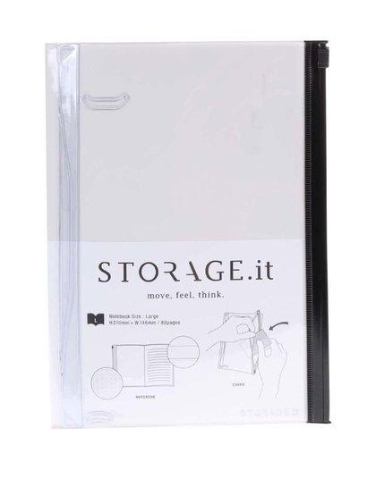 Krémový zápisník s plastovým obalom Mark's Storage.it