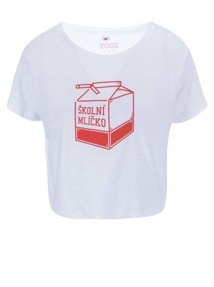 Biele dámske tričko ZOOT Lokál Školní mlíčko