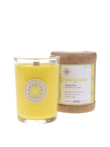 Žlutá vonná svíčka Root Candles Pomelo Pine - Invigorate