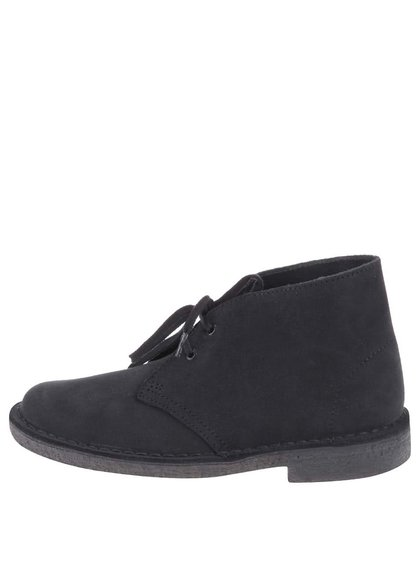 Pantofi derby de damă, din piele, până la gleznă, Clarks Desert Boot - bleumarin
