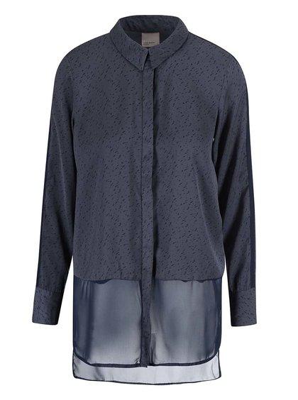 Tmavě modrá volnější košile se vzorem Vero Moda Lotus
