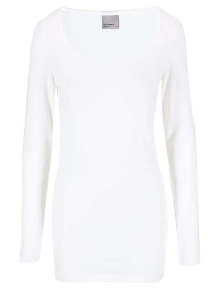 Bílé tričko s dlouhým rukávem Vero Moda Maxi My