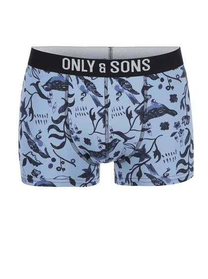 Modré boxerky s potlačou ONLY & SONS Sam