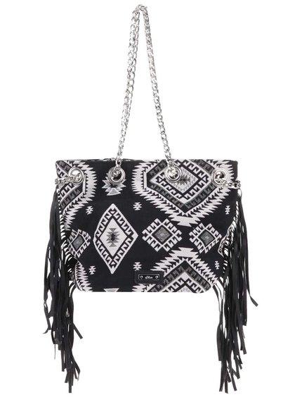 Černá malá kabelka se vzory s.Oliver