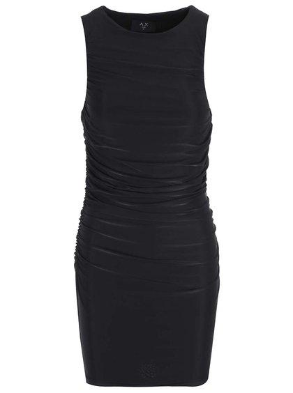 Černé šaty s nařasením AX Paris