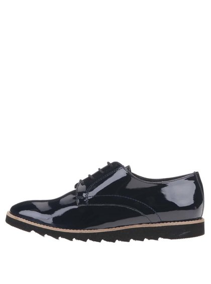Pantofi lucioși bleumarin OJJU