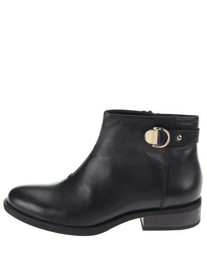 Černé kožené kotníkové boty Vagabond Cary