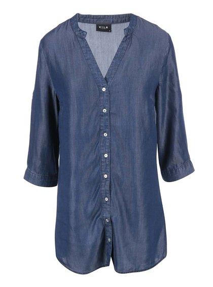 Tmavomodrá denimová košeľa VILA Rams