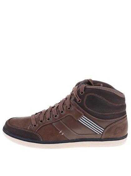Pantofi sport bărbătești Sorino, înalți, din piele, de la Skechers - maro