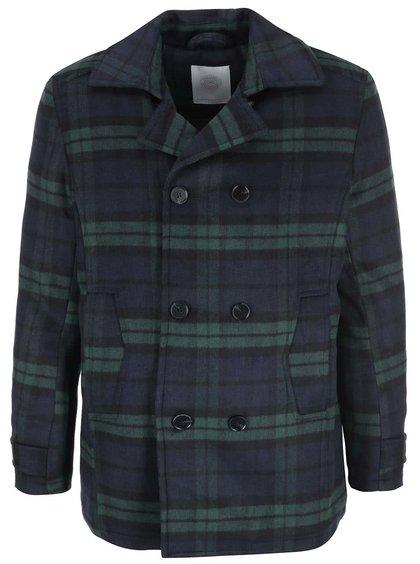 Zeleno-modrý kostkovaný kabát Tailored & Originals Neutoller