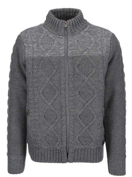 Sivý vzorovaný sveter Twinlife