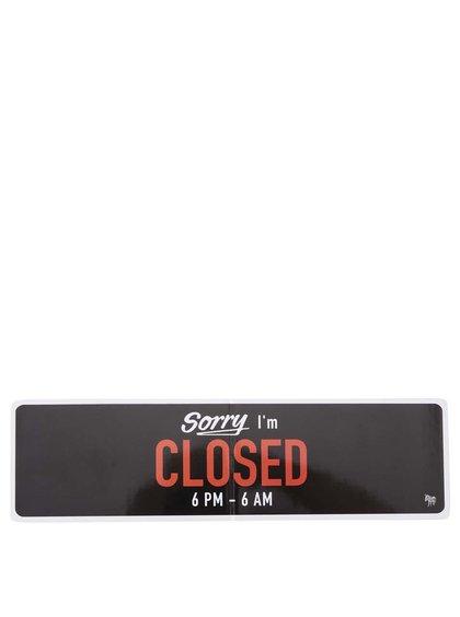 Čierny magnet na chladničku Donkey Snack Attack, Sorry I'm Closed