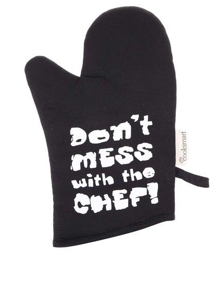 """Mânușă de bucătărie Cooksmart """"Don't Mess With The Chef!"""" neagră"""