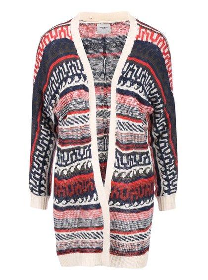 Modro-červený pletený kardigan so vzorom Vero Moda Felipa