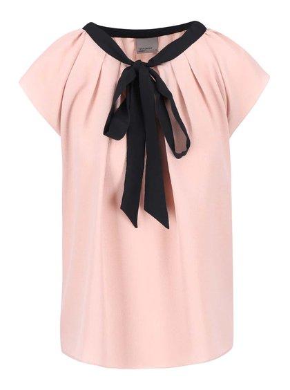 Růžová halenka s mašlí Vero Moda Stein