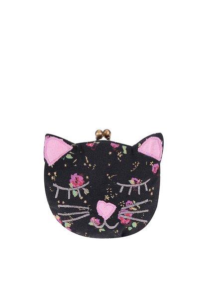 Portofel în formă de pisică Sass & Belle - Negru