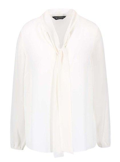 Bluză Dorothy Perkins crem cu fundă