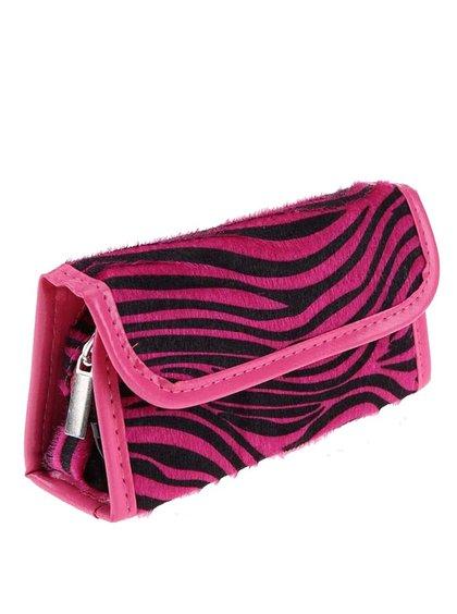 Cutie pentru produse de machiaj și manichiură cu imprimeu zebră roz Something Special by Moon