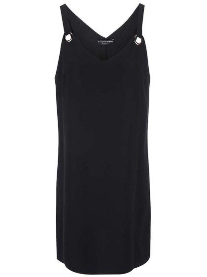Čierne šaty s kovovými detailmi Dorothy Perkins