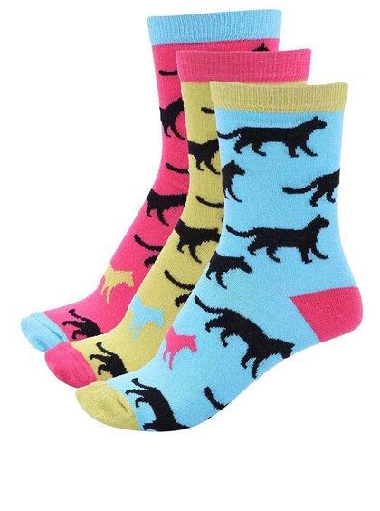 Sada tří barevných dámských ponožek s šelmami Oddsocks Holly