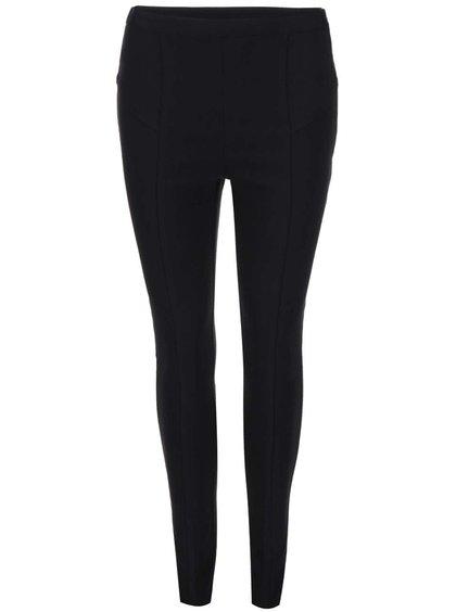 Černé strečové kalhoty s vysokým pasem Dorothy Perkins