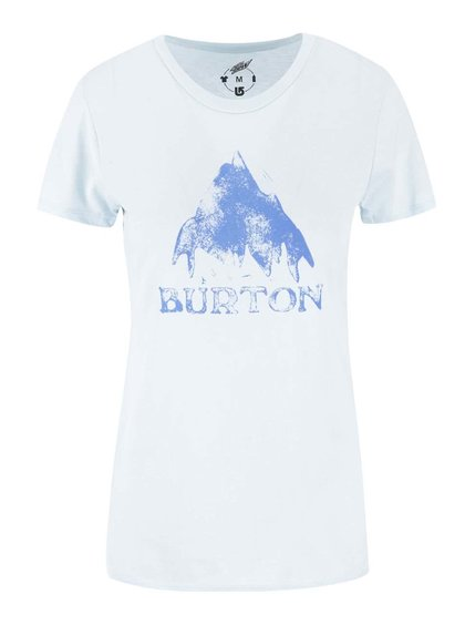 Svetlomodré dámske tričko s potlačou Burton Stmdmtn
