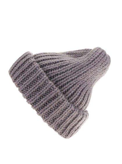 Sivá pletená čiapka Pieces Vakky