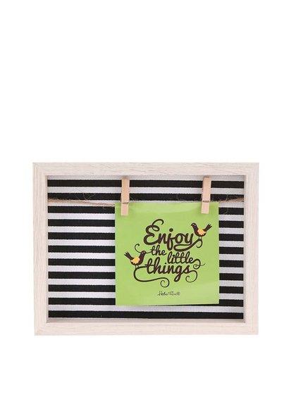 Čierno-biely rámček na fotky Helio Ferretti Thin Stripes