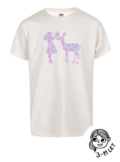 Tricou pentru fetițe ZOOT Kids Silhouette crem
