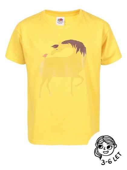 Žluté holčičí triko ZOOT Kids Kůň