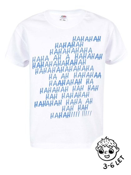 Biele chlapčenské tričko ZOOT Kids Haha