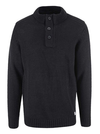 Černý svetr s knoflíky Blend