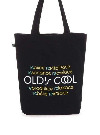 """""""Dobrá""""čierna taška s potlačou Elpida Old's Cool"""