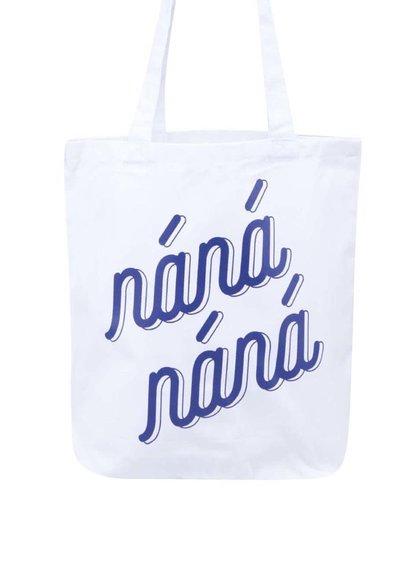 """""""Dobrá"""" biela plátená taška s potlačou pre Náplavka k svetu"""