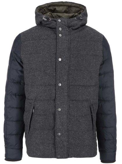 Jachetă Sid Jack & Jones cu mâneci albastre - gri închis
