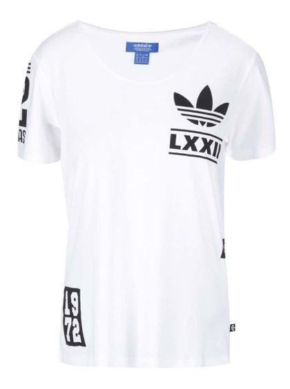 Tricou alb de damă cu logo BRLN Adidas Originals