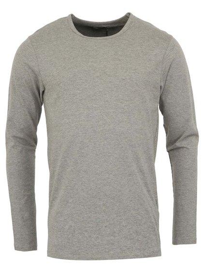 Šedé jednoduché triko s dlouhým rukávem Jack & Jones Basic