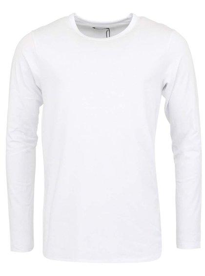 Biele jednoduché tielko s dlhým rukávom Jack & Jones Basic