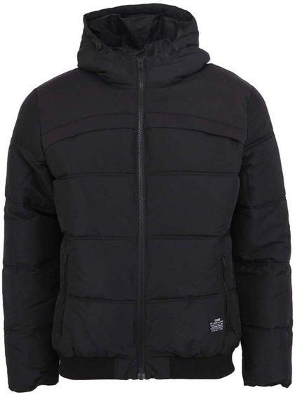 Čierna prešívaná zimná bunda Jack & Jones Sammo