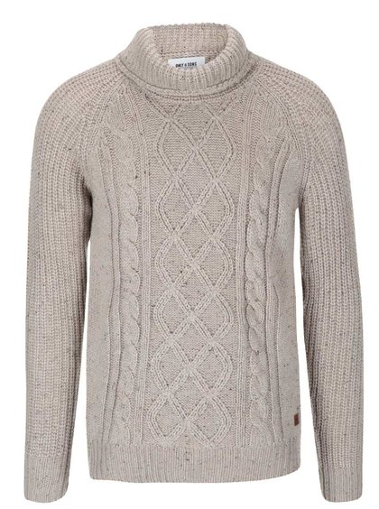 Béžový sveter s vysokým golierom ONLY & SONS Gabriel