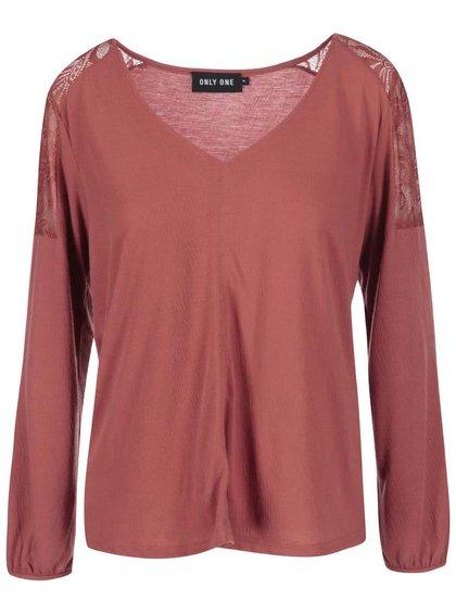 Bluză cu croială lejeră ONLY Lily roz somon