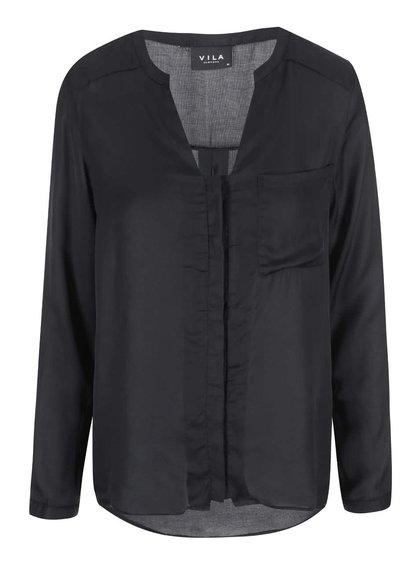 Čierna voľnejšia košeľa VILA Treat