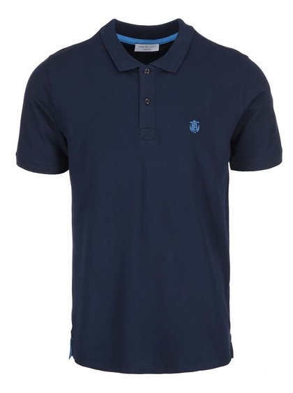 Tricou polo Selected Homme Haro - albastru navy