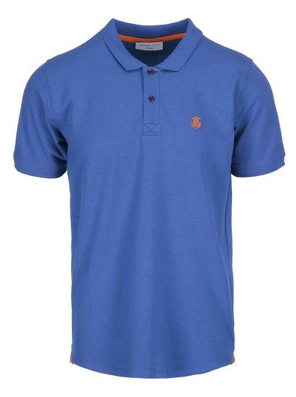 Modré polo triko Selected Homme Haro