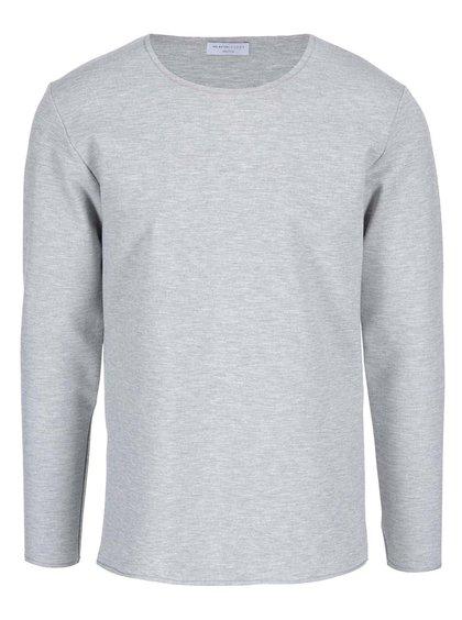 Svetlosivé tričko s dlhým rukávom Selected Homme Tanner