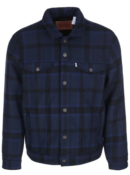 Jachetă bărbătească cu negru și albastru LEVI'S® Wool Trucker