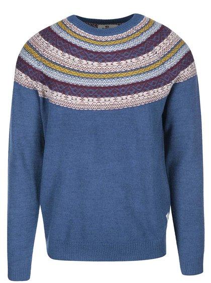 Modrý sveter s farebným vzorom Bellfield Kroka